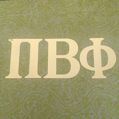 pi beta phi decal gold foil