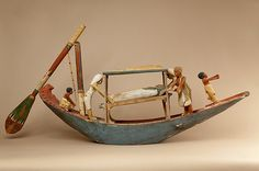 Model boat of Ukhhotep Period: Middle Kingdom Dynasty: Dynasty 12 Date: ca. 1981–1802 B.C. Geography: Probably from Egypt, Middle Egypt, Meir (Mir)