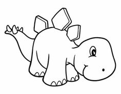 Dinosaur Coloring Pages, Cute Coloring Pages, Coloring Books, Die Dinos Baby, Baby Dinosaurs, Applique Patterns, Quilt Patterns, Dinosaur Crafts, Rock Painting Designs