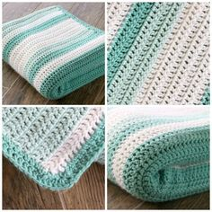 An easy beginner crochet afghan. Made with all double crochet stitches. Link to the random stripe generator to create unique striped patt...
