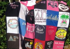 Send in your old t-shirts and they make a quilt out of them for you!    Long overdue! I so need to do this!