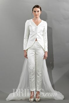 Awesome Victoria Kyriakides Fall Wedding PantsuitTuxedo