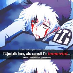Servamp Kuro Sleepy Ash Quote