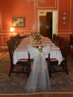 Bridesmaids' luncheon. Courtesy of Melissa Rowe Interiors.