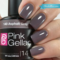 Pink Gellac Asphalt Grey Gel Polish