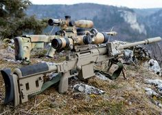 The C.G. Haenel RS9 bolt-action sniper rifles chambered in 8.6x70 mm (.338 Lapua…