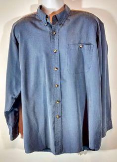 Orvis Men's Blue Plaid Button Front Shirt XL Excellent Condition High Quality #Orvis #ButtonFront