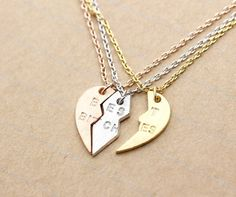 BEST BITCHES Heart Necklace set of 3. by zizibejewelry on Etsy, $24.80