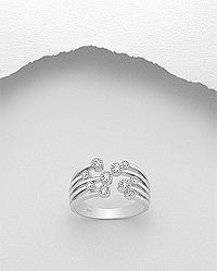 925 sterling silver ring set with cubic zircon