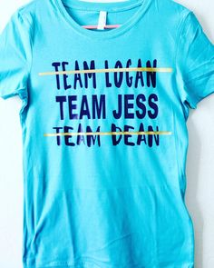 A personal favorite from my Etsy shop https://www.etsy.com/listing/268707634/gilmore-girls-team-dean-team-jess-team