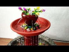 How to make beautiful waterfall fountain water fountain very easy - YouTube