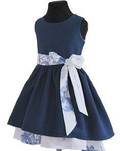 SUKIENKA ASYMETRYCZNA NIEBIESKA, MARAND COLLECTION - Buy4Kids - sukienki dla dziewczynek