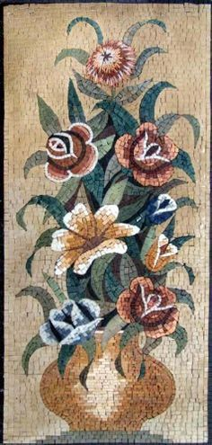 20x44 Flower Mosaic Art Tile Mural Wall Decor by mozaico. $312.00. Mosaics have endless uses and infinite possibilities! They can be used indoors or outdoors, be part of your kitchen, decorate your bathroom and the bottom of your pools, cover walls and ceilings, or serve as frames for mirrors and paintings.