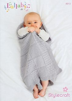Baby Blanket in Stylecraft Lullaby DK | Knitting Patterns | LoveKnitting