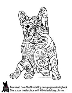 Check Out New Work On My Behance Portfolio Frenchie Zentangle Coloring Page Be Gallery 31390875