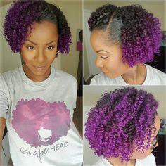 #HairInspiration Beautiful purple curls! @krates1913. ❤ #naturalhair #hairstyles #curls #beautifulhair #beauty #fashion #purplehair