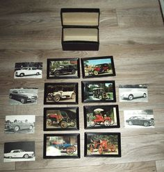 Vintage postcards Car's of Vintage car's lot of 14 Eight framed 6 loose