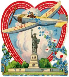 Statue of Liberty Valentine card