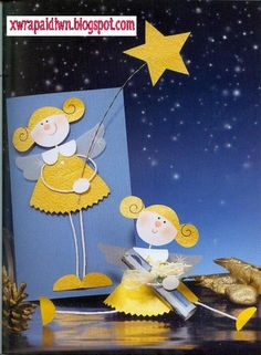 Angel Crafts, Diy And Crafts, Christmas Crafts, Crafts For Kids, Paper Crafts, Christmas Things To Do, Christmas Angels, Kids Christmas, Holiday Greeting Cards