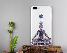 Translucent Yoga iPhone 7 plus clear case transparent soft silicone iPhone 6s plus cover iPhone 5s protector - TS7P060