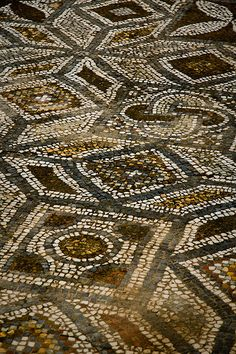 Detail of Mosaic, Ephesus, Turkey - photo by Catherine Mortensen who says that because of the rainy day, the mosaic was really clean from dust.