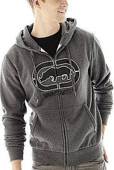 ECKO UNLIMITED Ecko Unltd. Full-Zip Logo Hoodie, Fleece full-zip jacket takes charge of your cold-weather style with a leather-like, center chest logo.