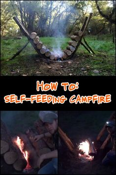 Keep Yourself Warm on Your Next Camping Trip by Learning How to Make a Self-Feeding Fire