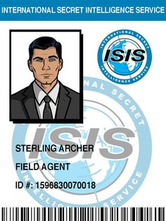 ISIS Badge: Sterling Archer by pinkfizzypops on deviantART