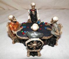 KELETONS PLAYING CARDS POKER CASINO GOTHIC BONE CHAIRS