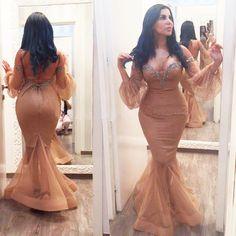 Prom Dresses,Evening Dress,Party Dresses,Prom Dresses,Fancy Champagne Prom Dresses,Mermaid