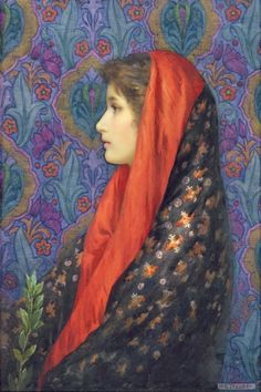Harry George Theaker - Lady with a shawl