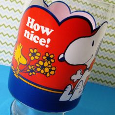 Bring the outside into your Snoopy room! Adorn your home with fresh flowers in a Snoopy & Woodstock vintage glass vase from Anchor Hocking. Three designs available in our shop at CollectPeanuts.com.