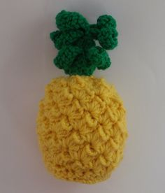 Awesome Crochet Pineapple toy play food very realistic by MKAKids