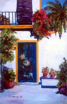 Puerta con Flores de Carmen López