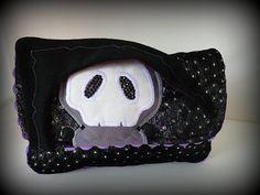 Taschen - geRIPpe Clutch von Tagesmutter - ein Designerstück von Tagesmutter bei DaWanda