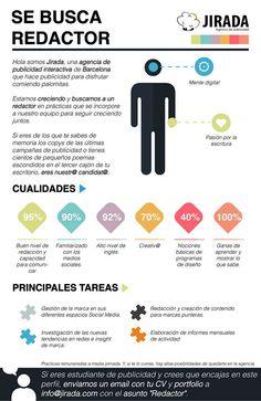 La agencia Jiralda, de Barcelona, busca un #redactor. ¿Te interesa?