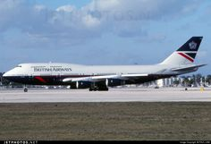 British Airways Boeing (registered G-CIVG) taxiing at Miami, 25 March, 2000 (photo by Paul Link) British Airways 747, Boeing Planes, Boeing 747 400, Passenger Aircraft, 25 March, Cargo Airlines, Air Planes, Commercial Aircraft, Civil Aviation