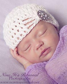 Crochet Pattern Elegant Beanie Hat Baby to Adult