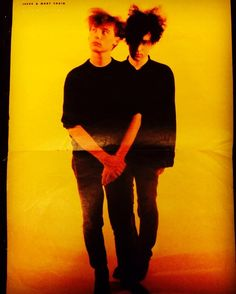 Jim Reid, William Reid. The Jesus & Mary Chain. Centre spread poster from No.1 Magazine 1987. This was actually on my wardrobe door in the 1980s.