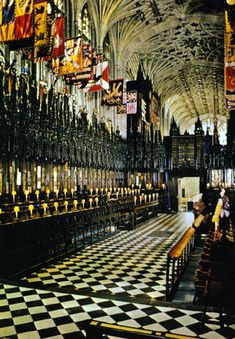 St. George's Chapel, Windsor Castle The burial site of King Henry VIII. The black slab in the isle is the tomb marker of his vault, shared with Jane Seymour,
