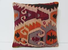 Turkish cushion sofa throw pillow kilim pillow cover decorative pillow case couch outdoor floor bohemian decor boho ethnic rug accent 21897