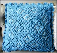"""The location where building and construction meets style, beaded crochet is the act of using beads to decorate crocheted products. """"Crochet"""" is derived fro Crochet Pillow Cases, Crochet Pillow Pattern, Crochet Cushions, Crochet Stitches Patterns, Knitting Patterns, Pillow Patterns, Crochet Home, Bead Crochet, Crochet Motif"""
