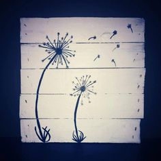 Pallet Dandelion Decor by CharmingWillows on Etsy, $35.00