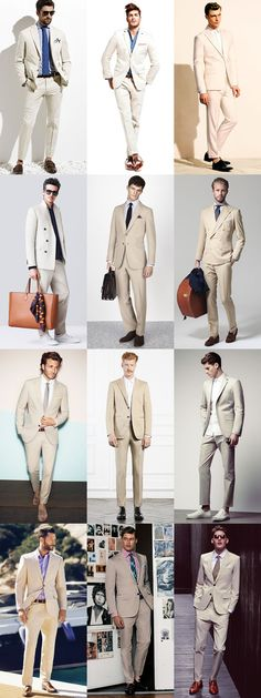 The New Spring/Summer Power Suits: Beige In Cotton Summer Weight Suits, Full Suit Lookbook Inspiration