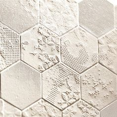 again - tiles: a white on white hexie quilt with textures instead of color differences would be great