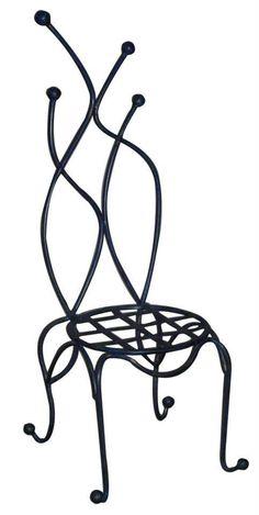 Chaise en fer forgé design contemporain réalisée à la par UBDESIGN