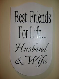 Wedding Sign Best Friends for Life Husband & Wife by MadeByCRose, $12.00