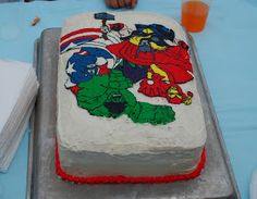 Sunshine and a Summer Breeze: Avengers Birthday Cake