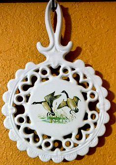 Чугун Подставка эмалированной с канадских гусей на ClassicEndearments