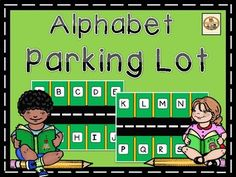Free: Alphabet Parking Lot is a great Letter Recognition Workstation. The students will match the lowercase cars with the uppercase letter in the Parking lot.Copy on hard copy paper, laminate, cut, and this workstation is ready to go!